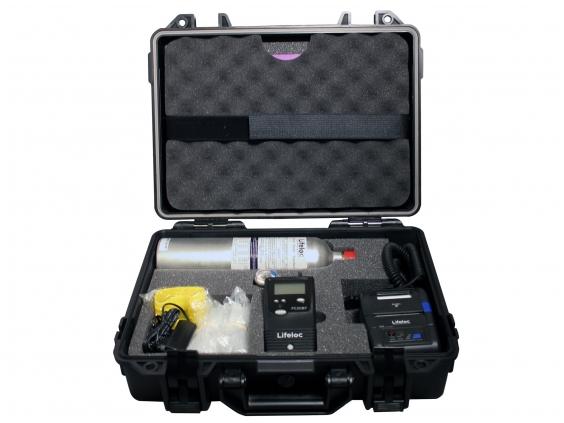 Alkotesteris Lifeloc FC20BT GK su bevieliu spausdintuvu ir kalibravimo įranga